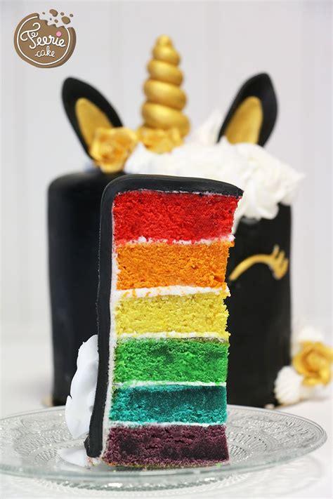 cake design recette du rainbow cake licorne cake