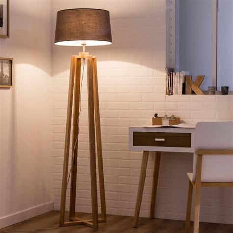 pied de bureau bois pied de ladaire sachi bois bois 144 cm inspire