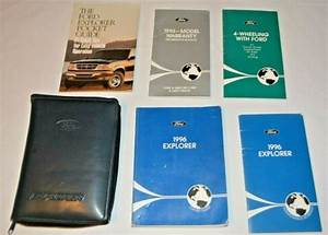1996 Ford Explorer Owners Manual Guide Book Set With Case