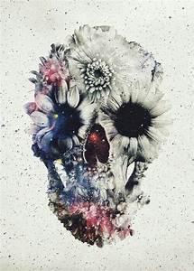 Tete De Mort Fleur : tete de mort fleur art dark horses tattoos skull tattoos floral skull ~ Mglfilm.com Idées de Décoration