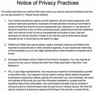 17 best images about free counseling note templates on With notice of privacy practices template