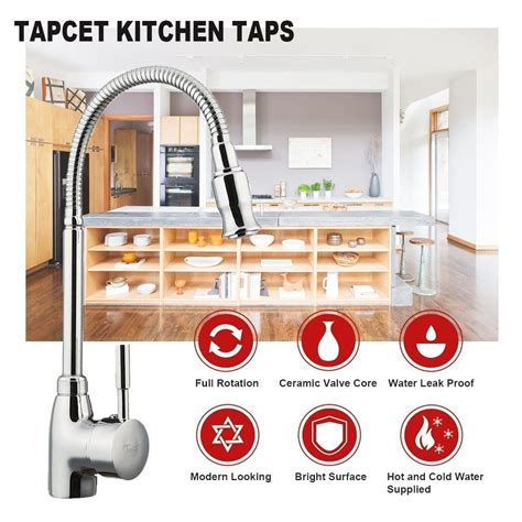 kitchen tap mixer degree taps rotating fire