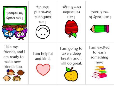 school affirmations printable mini book views