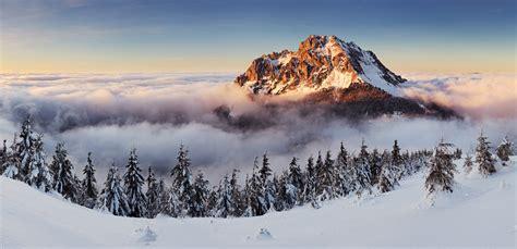 Wallpaper Slovakia, 4k, 5k Wallpaper, 8k, Mountains, Fog