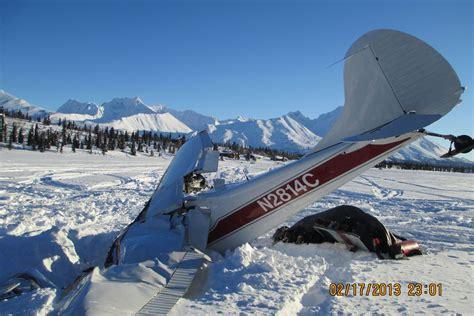 aircraft wreckage evacuated  iron dog crash site