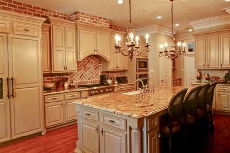 charming kitchen designs  brick backsplash