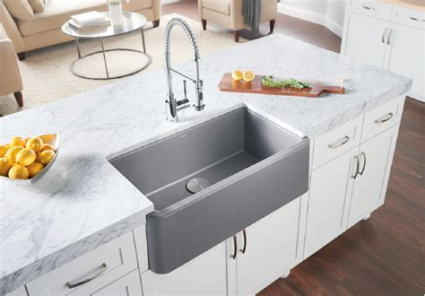 silgranit kitchen sink blanco ikon 174 33 quot apron front blanco 2217