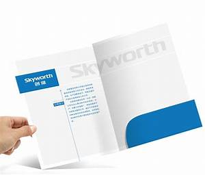 custom paper printed presentation folders offset printing With business folders cheap