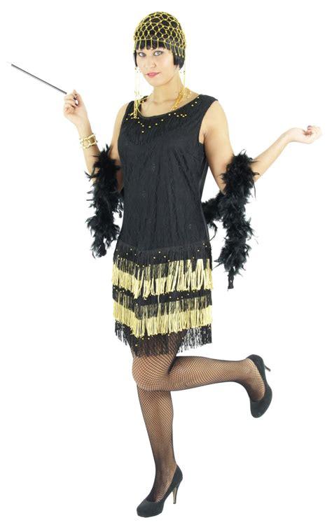 20er jahre kleid damen 20er jahre damen kleid charleston kost 252 m schwarz gold