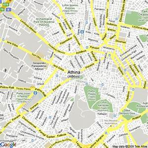 Map of Athens Greece - Free Printable Maps