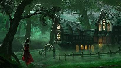 Forest Spooky Fantasy Wallpapers Medieval Creepy 1080
