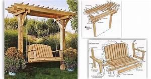 #2519 Arbor Swing Plans • WoodArchivist