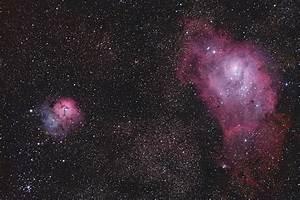 Lagoon & Trifid Nebulae, M8 & M20 | Amateur CCD Astronomy