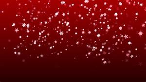 Christmas Red Background With Snowflakes Falling Snow ...