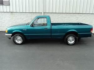 Teal 1995 Ford Ranger Long Bed