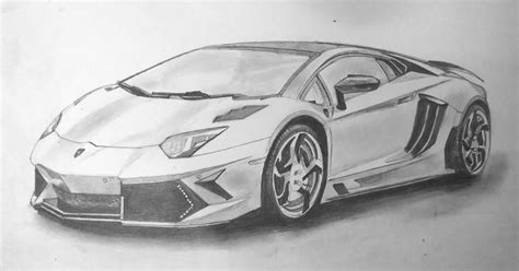 sourcewing lamborghini aventador pencil drawing