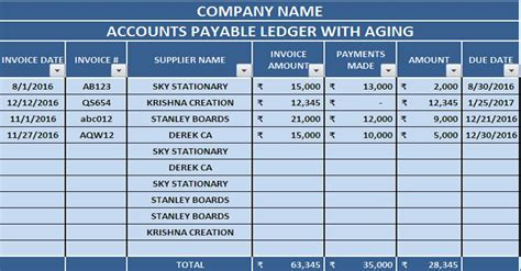 accounting templates  excel