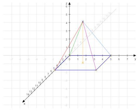 schraegbild einer quadratischen pyramide mit  cm  cm