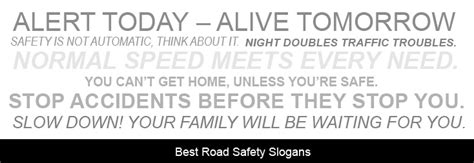 What Are The Best Road Safety Slogans?