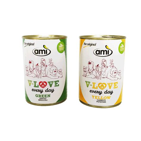 ami canned food  dogs vecado