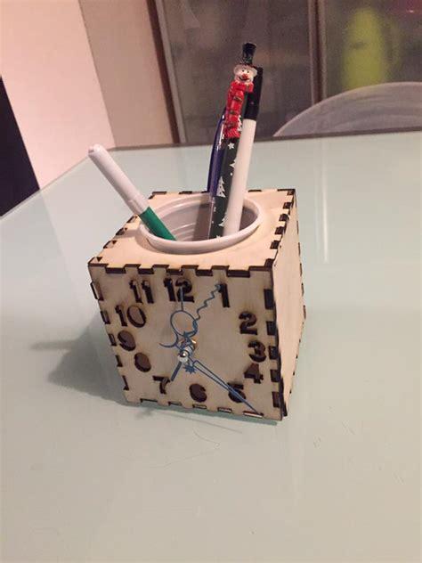 holder clock laser cut cnc plans  file
