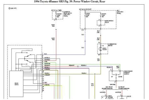 1994 Toyotum Camry Electrical Diagram by 1994 Toyota 4runner Rear Cargo Are Window Electrical