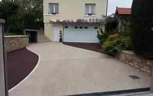 amenagement entree garage sp85 montrealeast With exceptional idee allee de maison 3 realisations jardins de vendee
