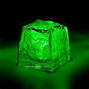 Green 3 Function Light Up Ice Cube,China Wholesale Green 3