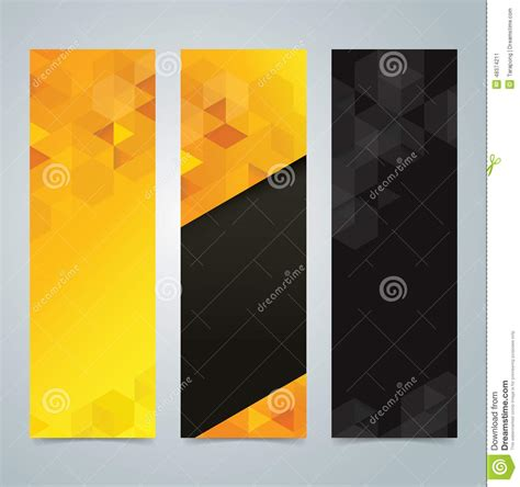 collection banner design yellow  black background