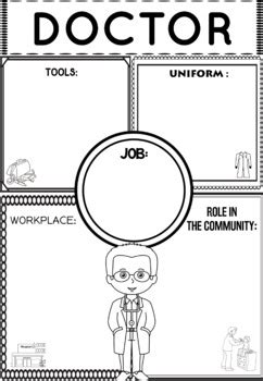 community helper graphic organizers worksheets doctor