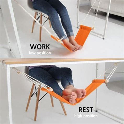 desk foot hammock a foot hammock that attaches to your desk geekologie
