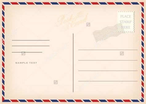 printable postcard templates  psd ai vector