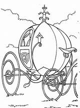 Coloring Cinderella Pages Carriage sketch template