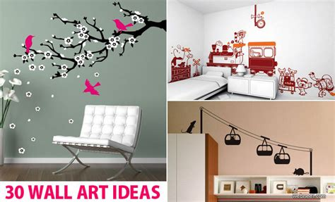 30 Wall Decor Ideas For Your Home: 30 Beautiful Wall Art Ideas And DIY Wall Paintings For