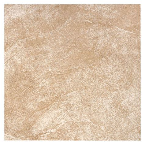 beige ceramic tile trafficmaster portland stone beige 18 in x 18 in glazed ceramic floor and wall tile 17 44 sq