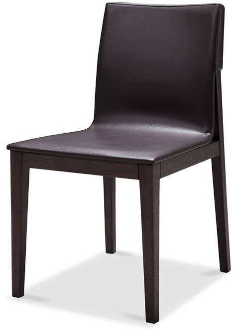 contemporary brown upholstered dining chair with sturdy