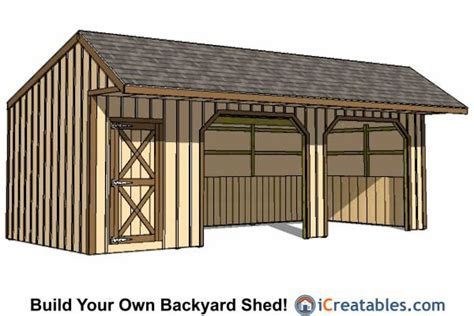 12x30 run in shed with tack room lean to shed plans