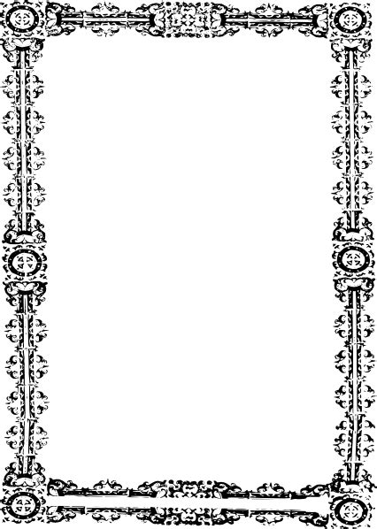 simple ornate frame clip art  clkercom vector clip