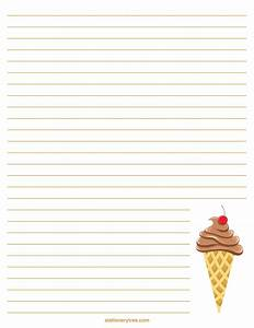 Printable Ice Cream Stationery