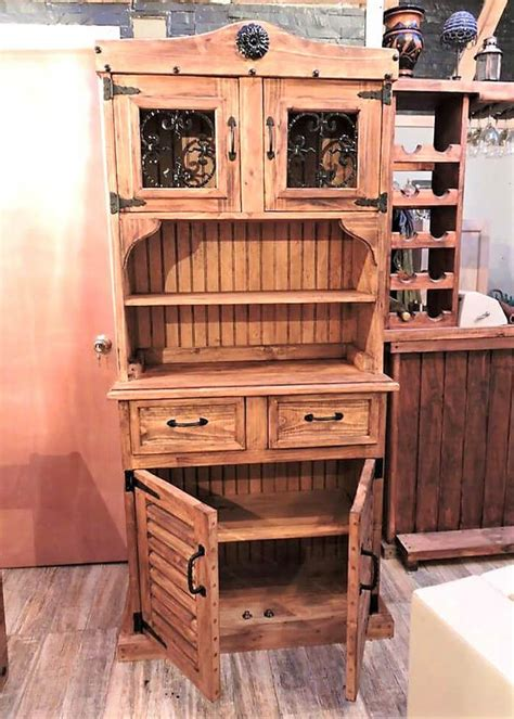 recycled wooden pallets rustic cupboard wood pallet