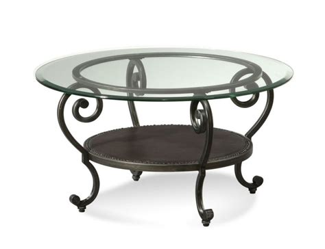 Elegant Black Wrought Iron Coffee Table With Glass Top