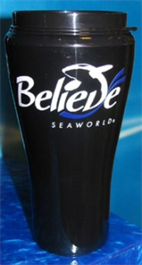 sea world travel mug coffee cup shamu