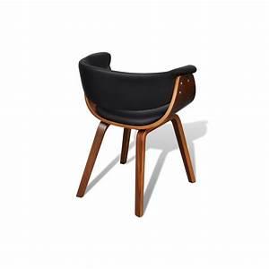 Chaise Salle A Manger Cuir : ensemble de 6 chaises en bois et dossier en simili cuir pour chaise ~ Teatrodelosmanantiales.com Idées de Décoration