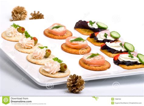 fresh canapes tray of fresh canapes stock images image 7368764