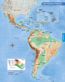 Latin America Physical Features Map