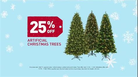 black friday artificial christmas tree lowe s black friday deals tv commercial artificial trees ispot tv