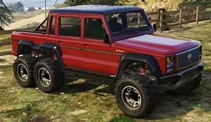 Benefactor Dubsta 6x6 Red Front | GTA 5 Cars
