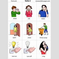 Kids Pages  Verbs 3  English Vocabulary  Pinterest  Pictures Of, Kids Pages And Pictures