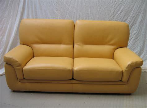 canape jaune cuir corinthe ensemble grand 2 places petit fauteuil l