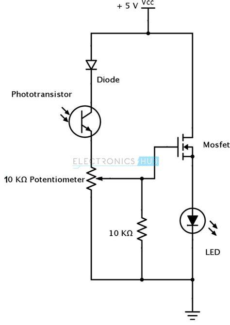 photodiode light detector circuit photodiode sensor circuit www pixshark com images
